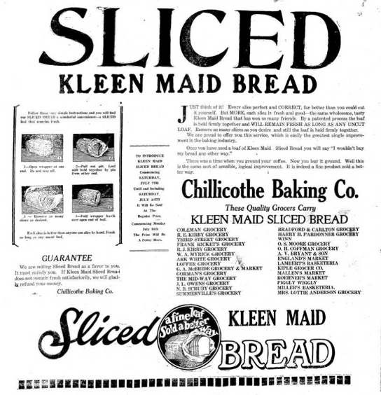 July 7, 1928: The Greatest Thing Since Sliced Bread Is… Sliced Bread