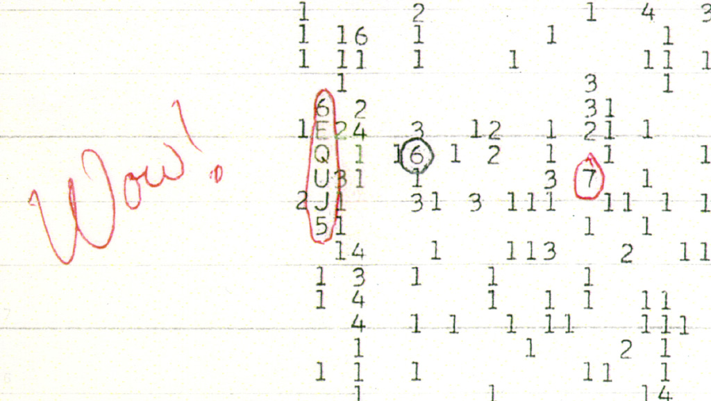 August 15, 1977: Wow! Signal Received