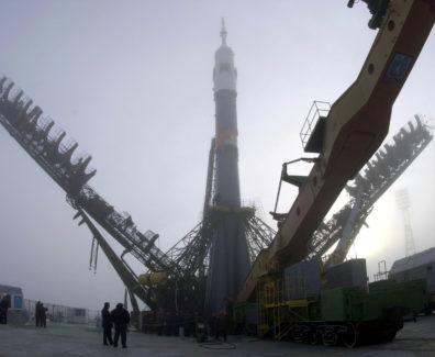 Russian Soyuz TM-31 in Launch Position, 29 October 2000