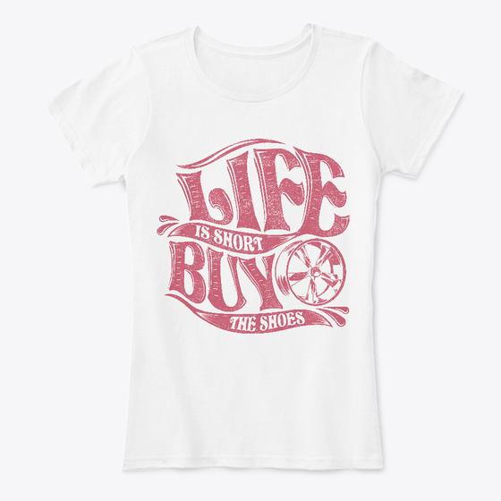 Life Is Short - Light White Women's Car T Shirt