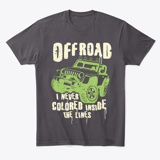 Offroading - Gray Jeep T Shirt