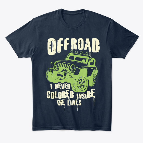 Offroading - Navy Jeep T Shirt