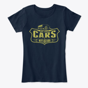 She's Into Cars - Navy Women's Car T Shirt