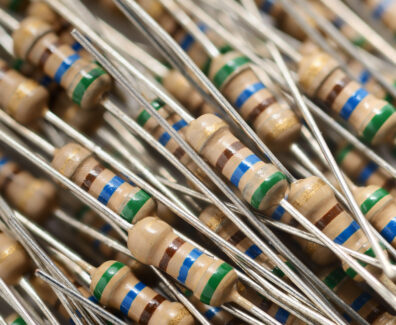 Heap of resistors background